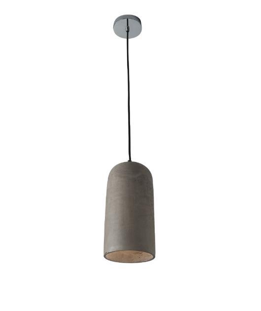 Φωτιστικό οροφής κρεμαστό μονόφωτο μπετό γκρι 150cm Zambelis Lights 1581