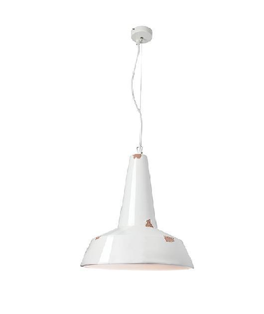 Φωτιστικό οροφής κρεμαστό μονόφωτο πήλινο λευκό 138x36cm Zambelis Lights 17153