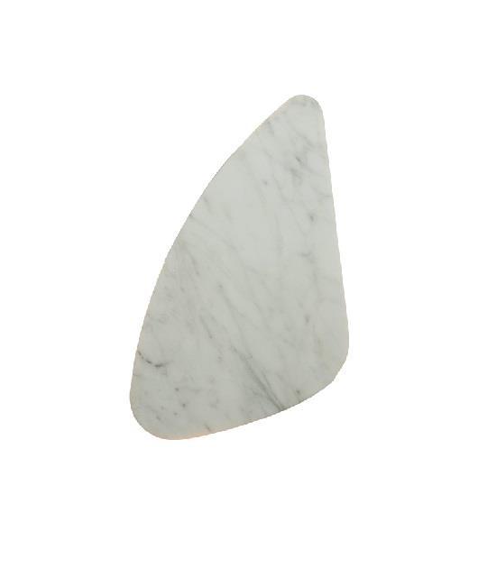 Απλίκα 2φωτη με Led και όψη μαρμαρου λευκή 36x20x8cm Zambelis Lights 18153-B