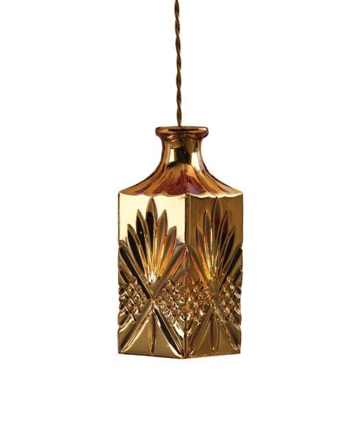Φωτιστικό οροφής κρεμαστό μονόφωτο γυάλινο χρυσό 123x10cm Zambelis Lights 15104