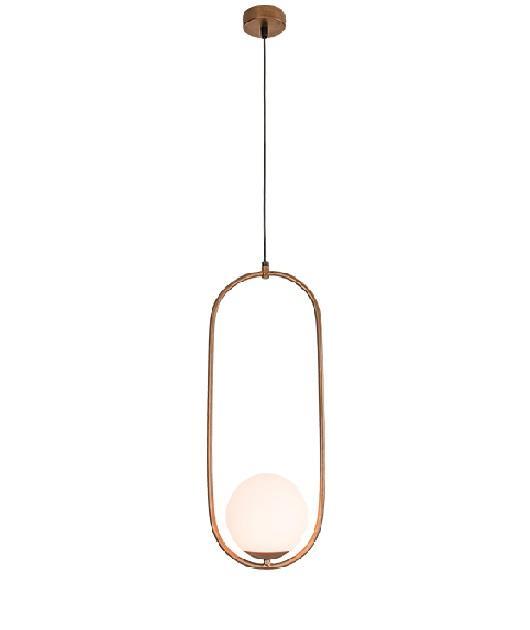 Φωτιστικό οροφής κρεμαστό μονόφωτο καφέ 150x20x12cm Zambelis Lights 18142