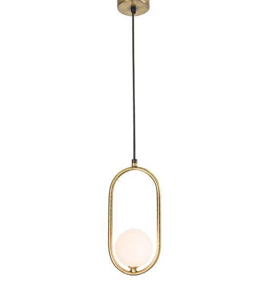 Φωτιστικό οροφής κρεμαστό μονόφωτο χρυσό 173x11x8cm Zambelis Lights 18143