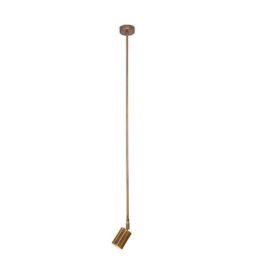Φωτιστικό οροφής κρεμαστό μονόφωτο χάλκινο 118x6cm Zambelis Lights 17106