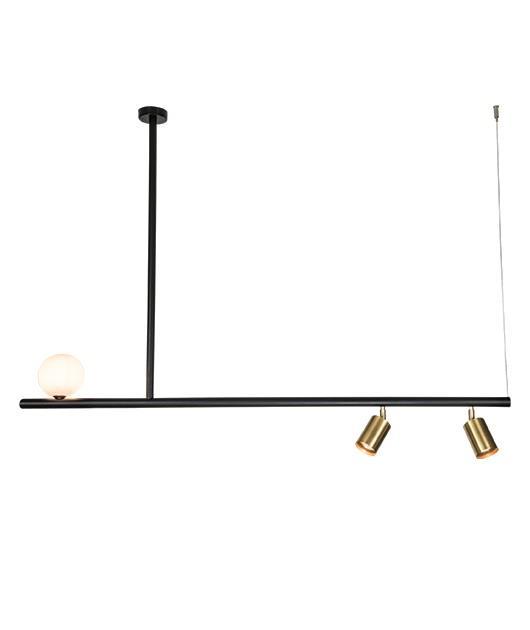 Φωτιστικό οροφής κρεμαστό 3φωτο μαύρο 100x120cm Zambelis Lights 18130