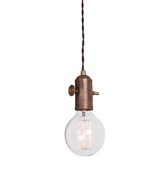 Φωτιστικό οροφής κρεμαστό μονόφωτο μπρούτζινο καφέ 100x8cm Zambelis Lights 14111