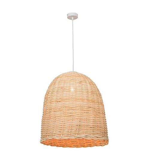 Φωτιστικό οροφής κρεμαστό μονόφωτο Rattan μπεζ 153x47cm Zambelis Lights 17130