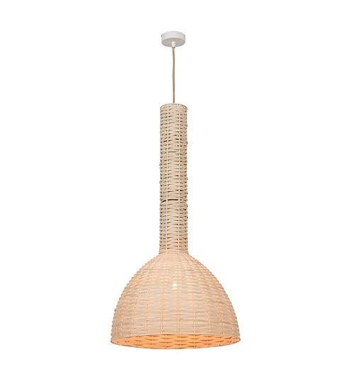 Φωτιστικό οροφής κρεμαστό μονόφωτο Rattan μπεζ 170x30cm Zambelis Lights 17131