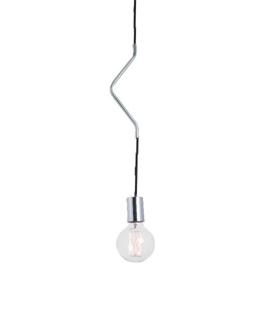 Φωτιστικό οροφής κρεμαστό μονόφωτο χρώμιο/μαύρο 100cm Zambelis Lights 14112-C