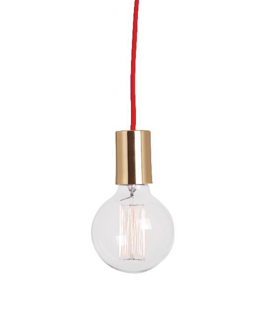 Φωτιστικό οροφής κρεμαστό μονόφωτο χρυσό/κόκκινο 100cm Zambelis Lights 14109-G