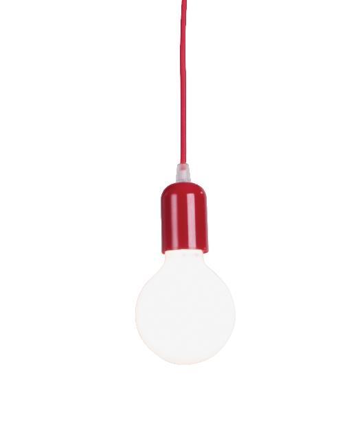 Φωτιστικό οροφής κρεμαστό μονόφωτο κόκκινο 100cm Zambelis Lights 14108-R