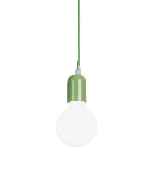 Φωτιστικό οροφής κρεμαστό μονόφωτο πράσινο 100cm Zambelis Lights 14108-G