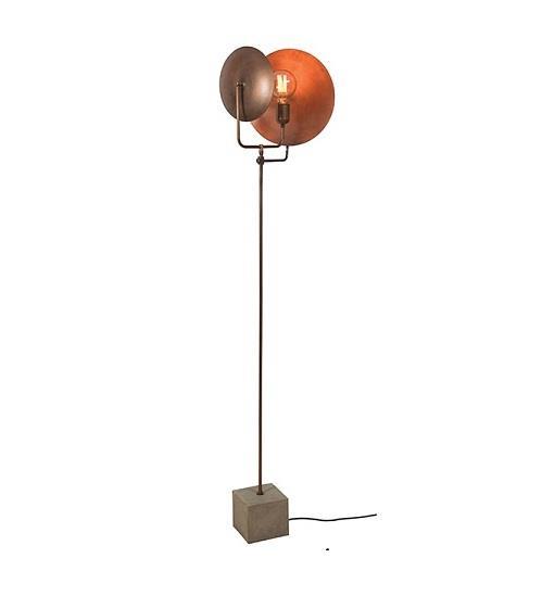 Φωτιστικό επιδαπέδιο μονόφωτο μπετό γκρι/κόκκινη οξείδωση 170x40cm Zambelis Lights 17134