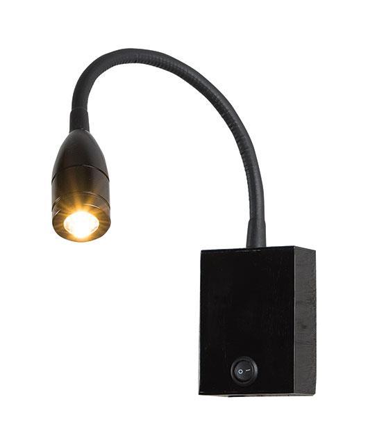 Απλίκα τοίχου μονόφωτη με Led μαύρη 8x6cm Zambelis Lights H-32