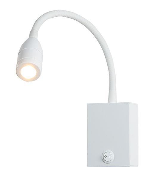 Απλίκα τοίχου μονόφωτη με Led λευκή 8x6cm Zambelis Lights H-33