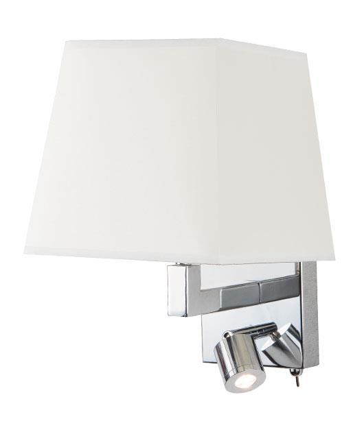 Απλίκα τοίχου μονόφωτη με Led μεταλλική χρώμιο/μπεζ 12cm Zambelis Lights H-26W