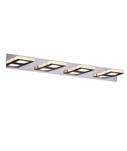 Απλίκα τοίχου 4φωτη με Led χρώμιο 66×11.5cm Zambelis Lights 16196