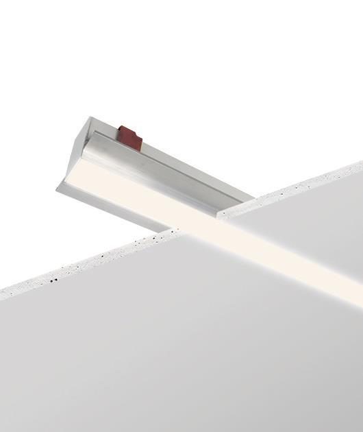 Φωτιστικό οροφής χωνευτό μονόφωτο με Led λευκό 142cm Zambelis Lights 18231