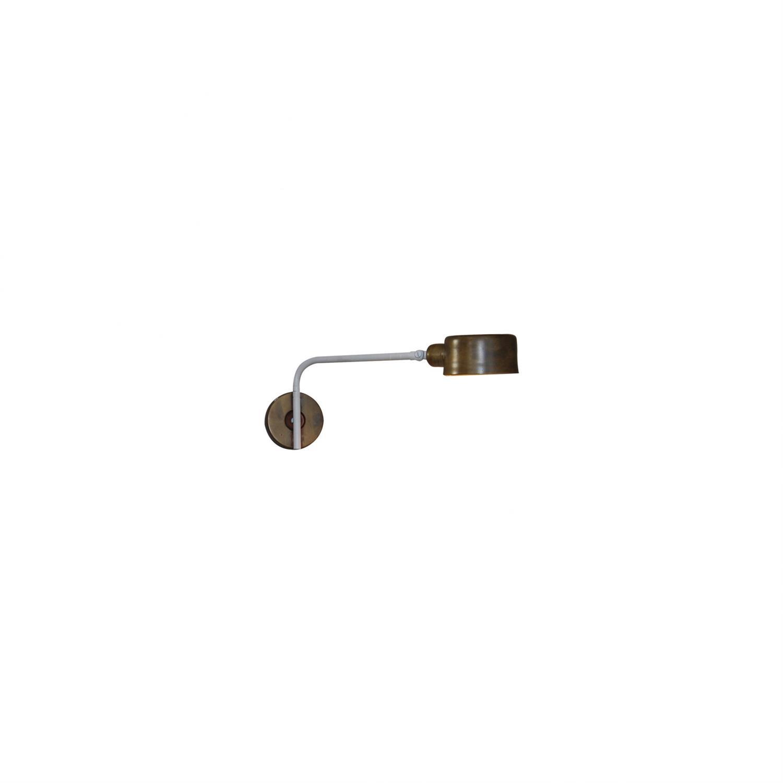 Απλίκα τοίχου περιστρεφόμενη 180° μονόφωτη Roy μεταλλική μπρονζέ/λευκή 35x16cm Home Lighting 77-3862