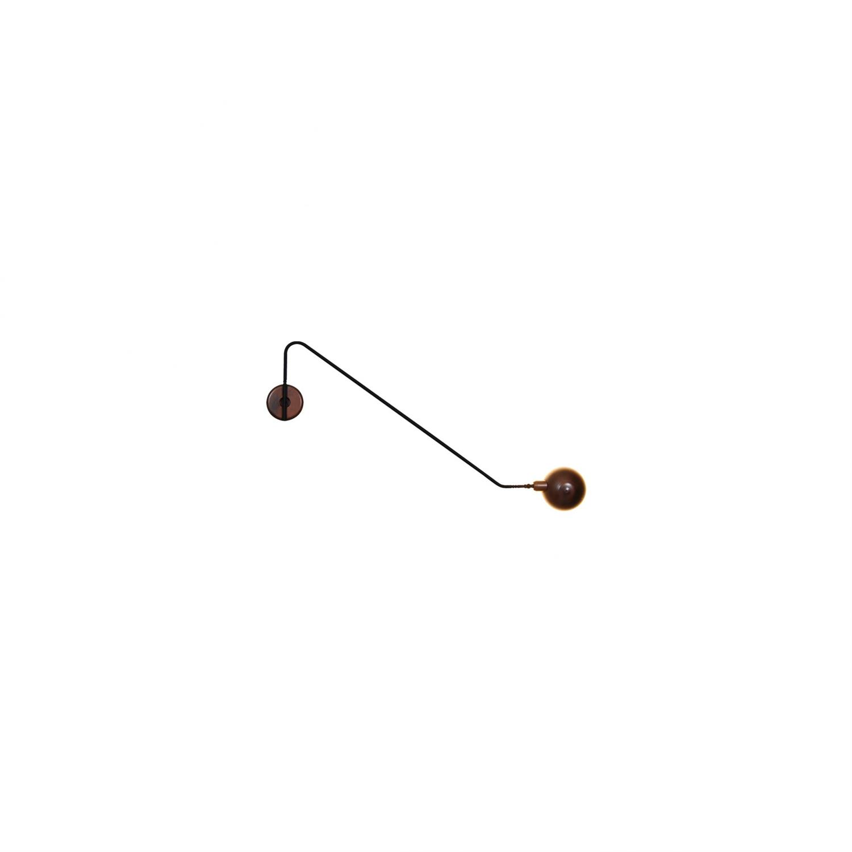 Απλίκα τοίχου με περιστρεφόμενο μπράτσο 180° και περιστρεφόμενο καπέλο μονόφωτη Mason μεταλλική μπρονζέ/μαύρη 90x22cm Home Light