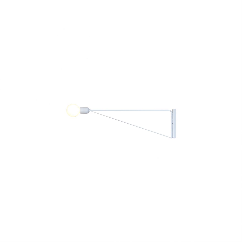 Απλίκα τοίχου με περιστρεφόμενο μπράτσο 180° μονόφωτη Nina μεταλλική λευκή 113x20cm Home Lighting 77-3975