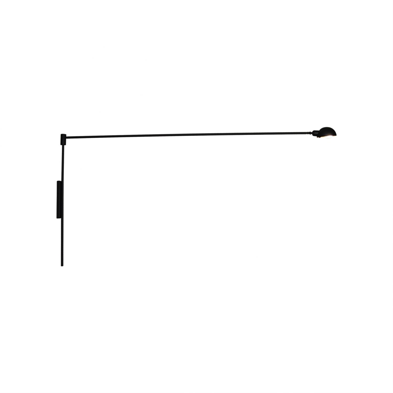 Απλίκα τοίχου με περιστρεφόμενο μπράτσο 180° και περιστρεφόμενο καπέλο μονόφωτη Tanner μεταλλική λευκή 150x70cm Home Lighting 77