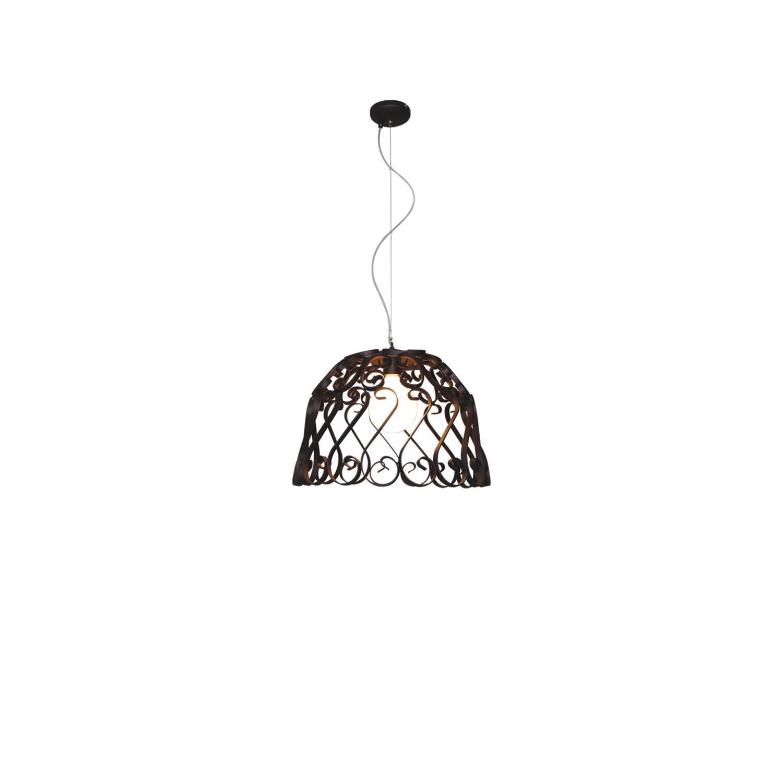 Φωτιστικό οροφής κρεμαστό μονόφωτο Lewis μεταλλικό στο χρώμα της σκουριάς 50x100cm Home Lighting 77-4005
