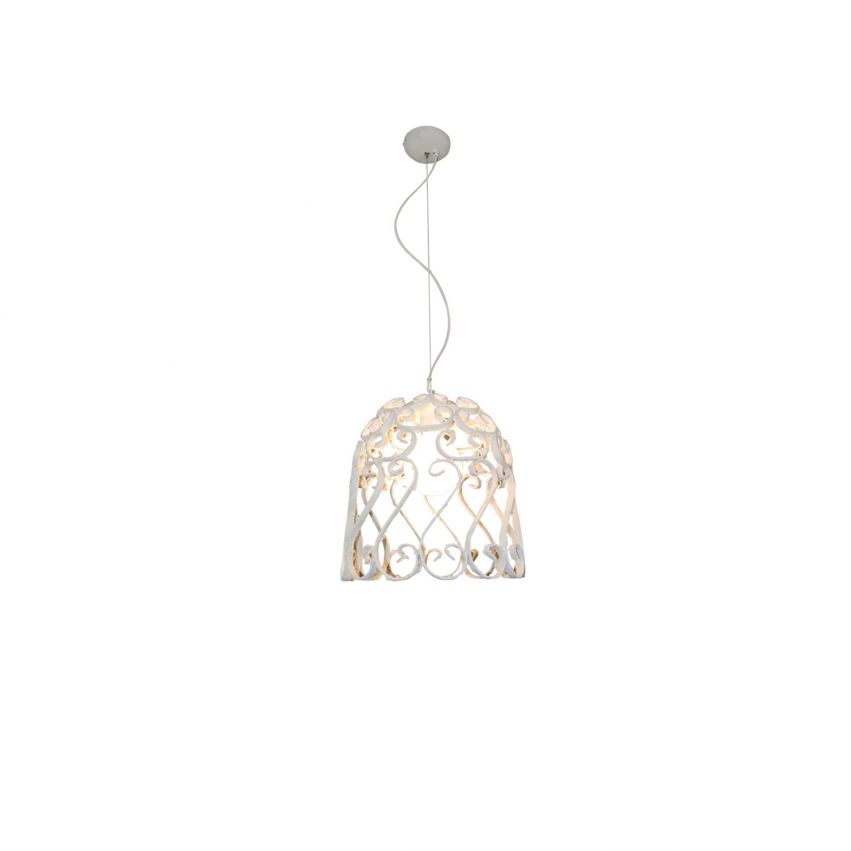 Φωτιστικό οροφής κρεμαστό μονόφωτο Lewis μεταλλικό λευκό 40x100cm Home Lighting 77-4012