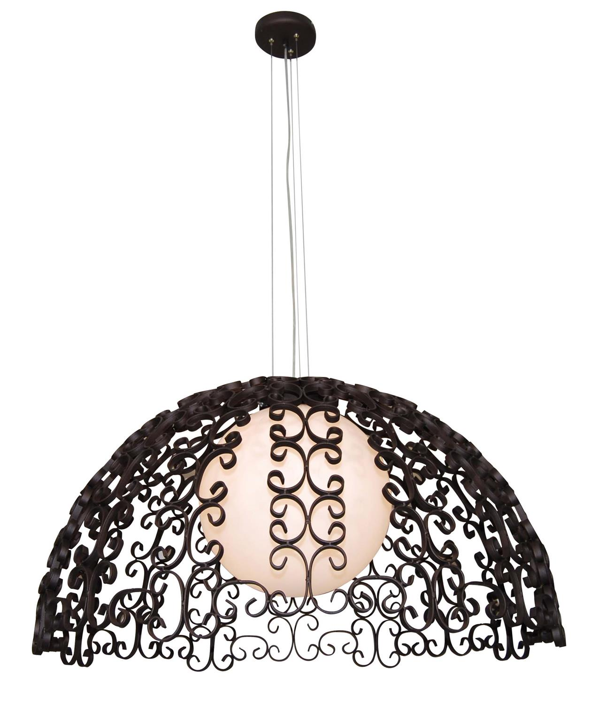Φωτιστικό οροφής κρεμαστό μονόφωτο Bale μεταλλικό φθαρμένο χάλκινο 105x120cm Home Lighting 77-4036