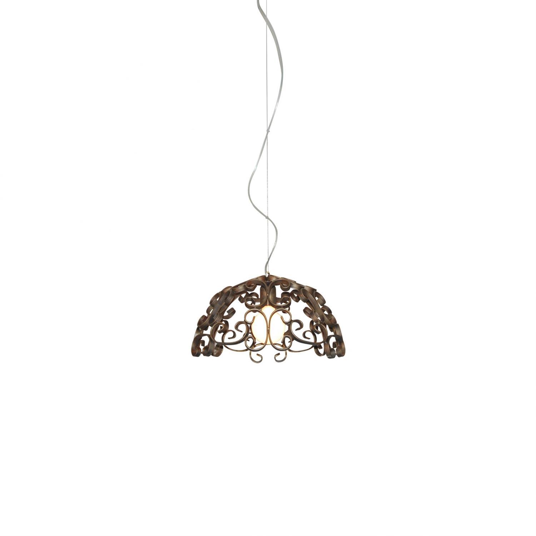 Φωτιστικό οροφής κρεμαστό μονόφωτο Bale μεταλλικό φθαρμένο χάλκινο 45x100cm Home Lighting 77-4037