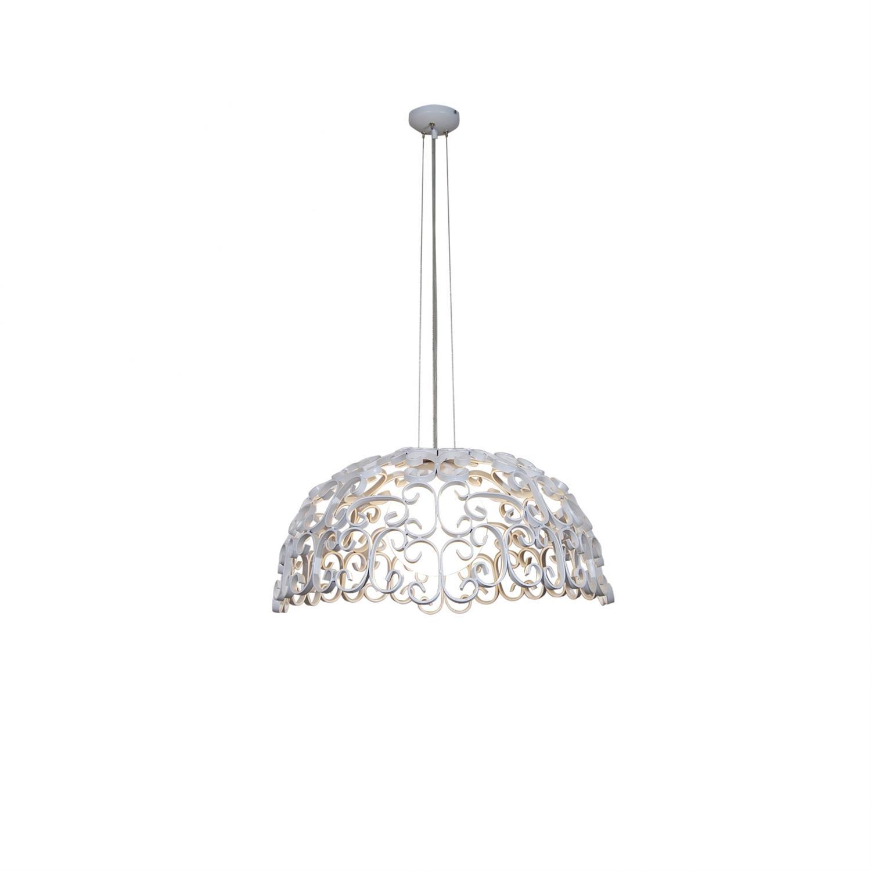 Φωτιστικό οροφής κρεμαστό μονόφωτο Bale μεταλλικό λευκό ματ 65x120cm Home Lighting 77-4041