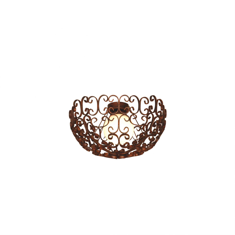 Φωτιστικό οροφής κρεμαστό μονόφωτο Bale μεταλλικό φθαρμένο χάλκινο 65x40cm Home Lighting 77-4050