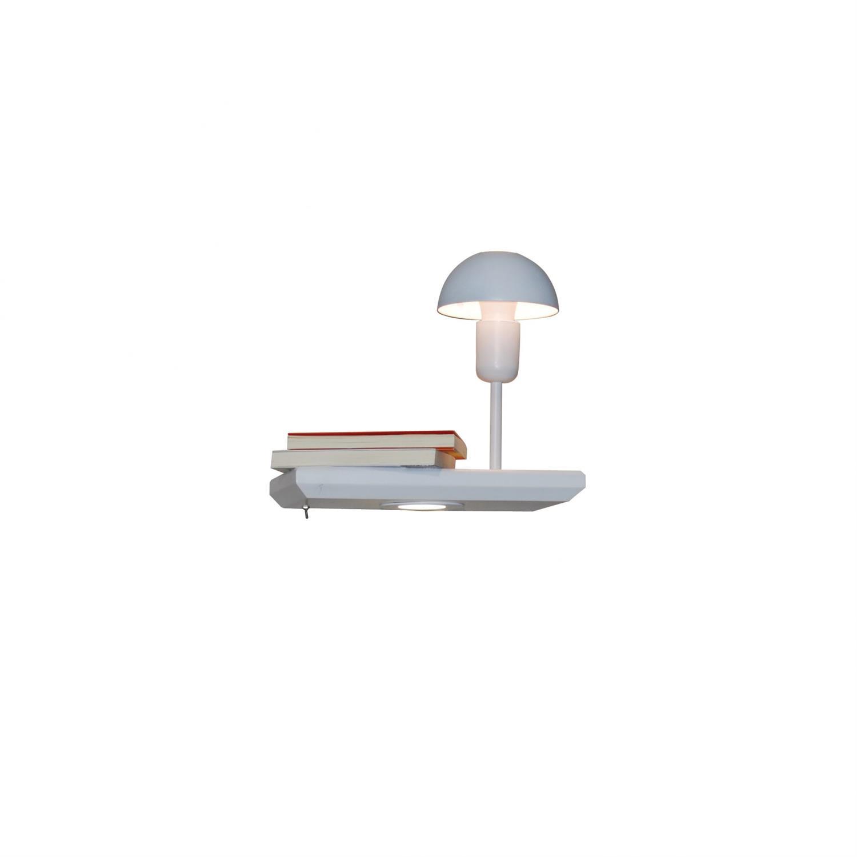 Απλίκα τοίχου μονόφωτη Rowan ξύλινη λευκή 30x25x15cm Home Lighting 77-4057