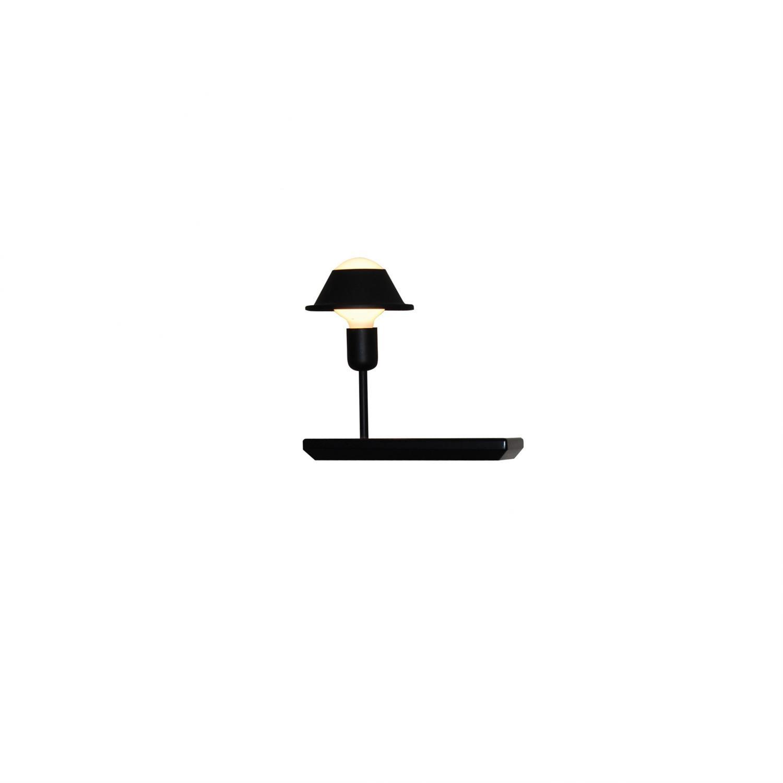 Απλίκα τοίχου μονόφωτη Rowan ξύλινη μαύρη 30x25x15cm Home Lighting 77-4412