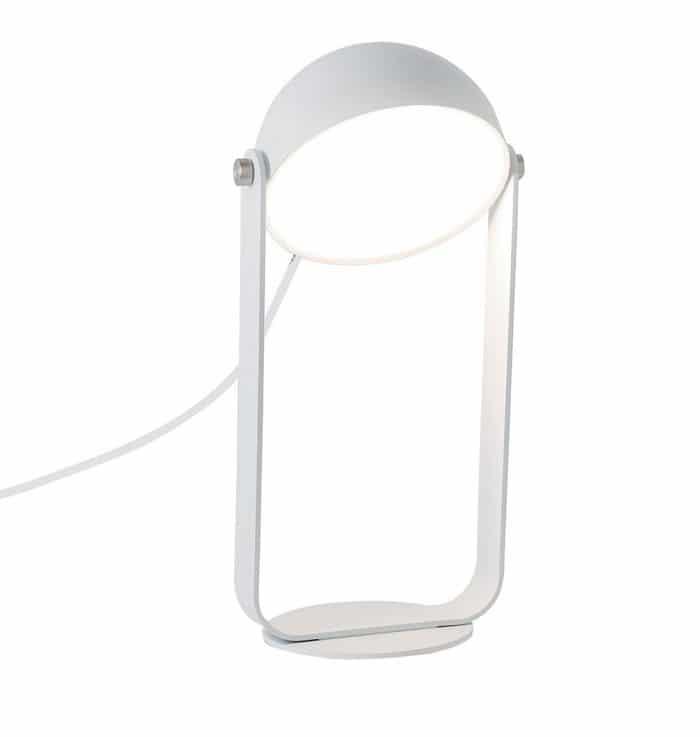 Φωτιστικό επιτραπέζιο Led Hemi μεταλλικό λευκό 15,5x24cm Viokef 4205700