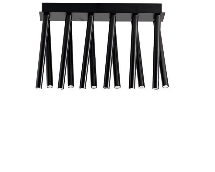 Φωτιστικό οροφής 12φωτο Led Duct αλουμινίου μαύρο 23x15x34cm Viokef 3083100