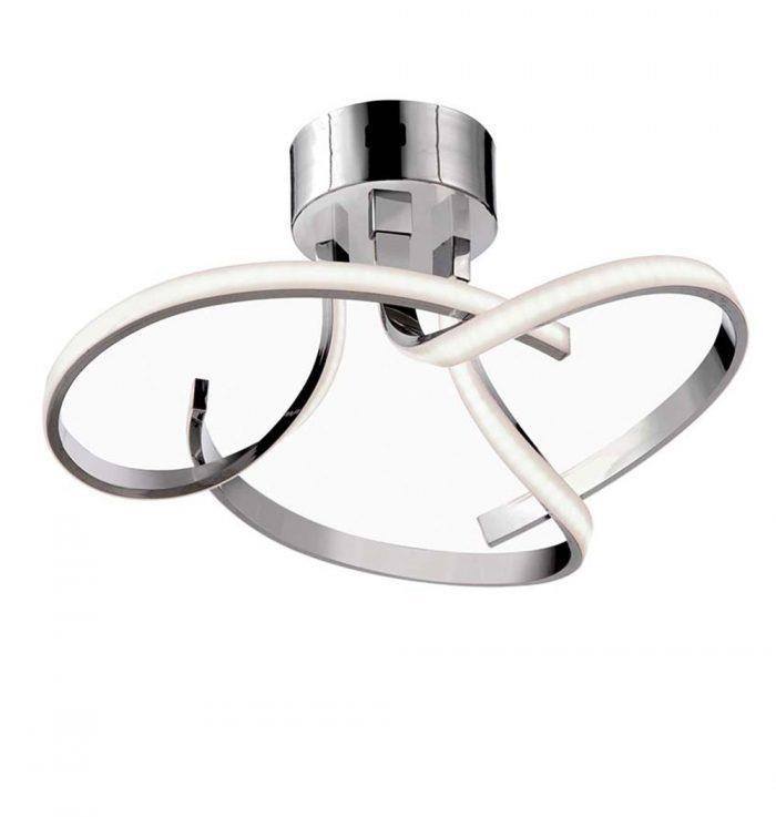 Φωτιστικό οροφής Led Opus μεταλλικό ασημί 39x18cm Viokef 4200800