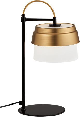Φωτιστικό επιτραπέζιο Morgan γυαλί/μέταλλο λευκο ματ/χρυσό 22x47cm Viokef 3096000