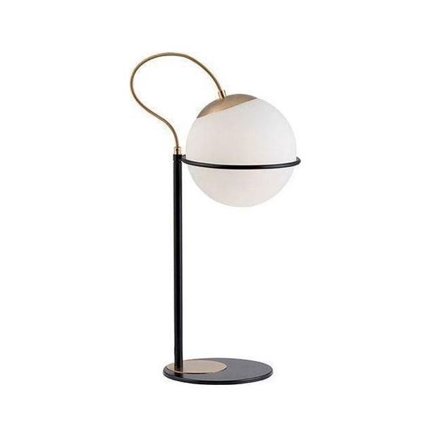 Φωτιστικό επιτραπέζιο Ferero γυάλινο/μεταλλικό μαύρο/λευκό /χρυσό 24x52cm Viokef 3094100