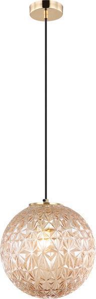 Φωτιστικό οροφής κρεμαστό μονόφωτο Aspa γυάλινο μελί με μπρονζέ ανάρτηση 25x150cm Viokef 4206101