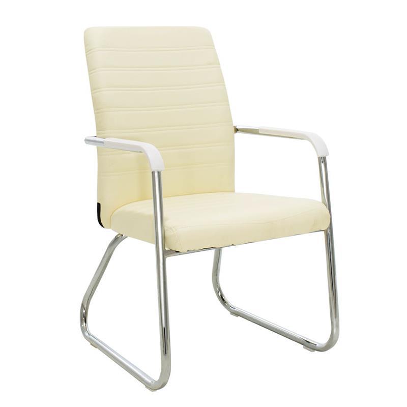 Καρέκλα γραφείου μεταλλική/PU ασημί/εκρού Inart 6-50-676-0039