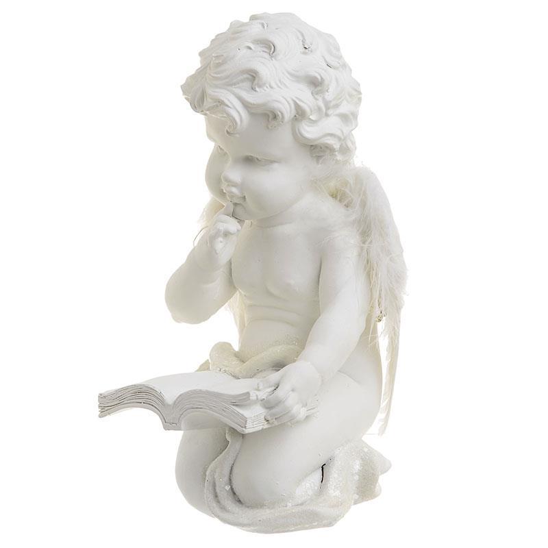 Χριστουγεννιάτικο διακοσμητικό Άγγελος Polyresin λευκό 13.5x12x20cm Inart 2-70-146-0245