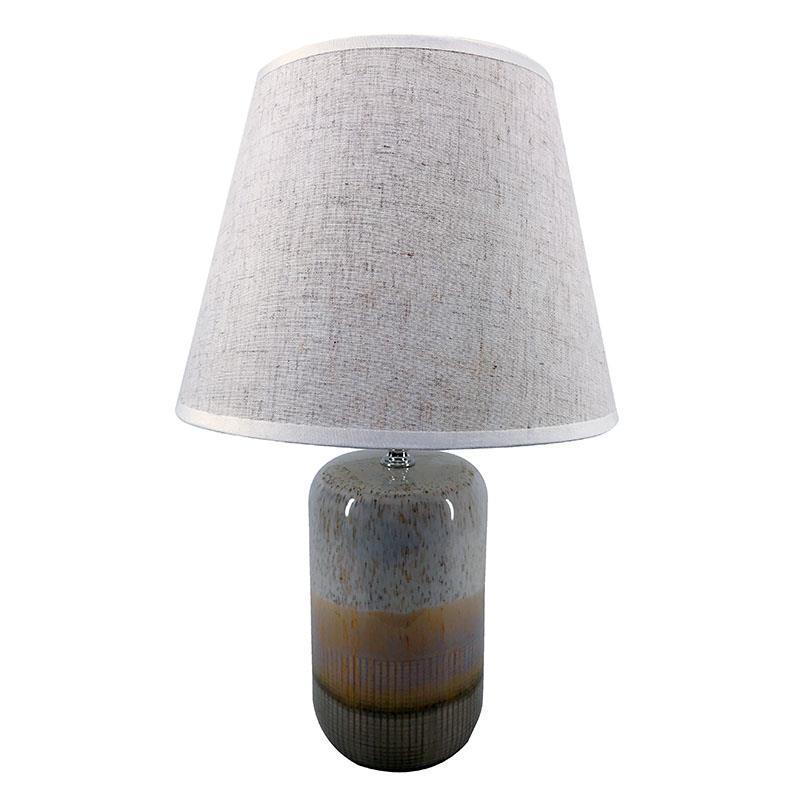 Φωτιστικό επιτραπέζιο μονόφωτο κεραμικό γκρι 25x37cm Inart 3-15-414-0004