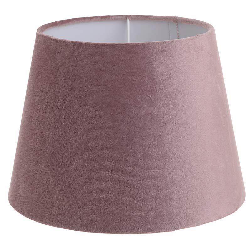 Καπέλο φωτιστικού βελούδινο σκούρο ροζ 30x22cm Inart 3-10-741-0038