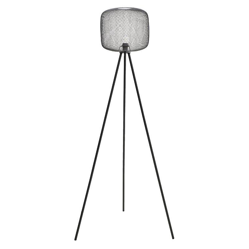 Φωτιστικό επιδαπέδιο μεταλλικό μαύρο 60x50x160cm Inart 3-15-774-0046