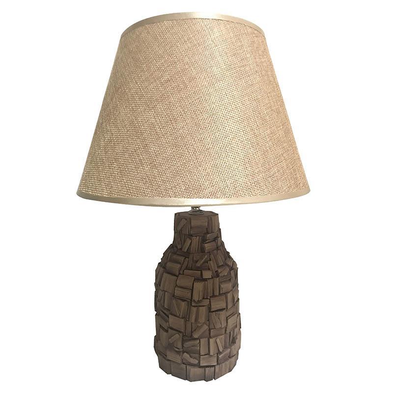 Φωτιστικό επιτραπέζιο κεραμικό λευκό/natural 28x39cm Inart 3-15-414-0009