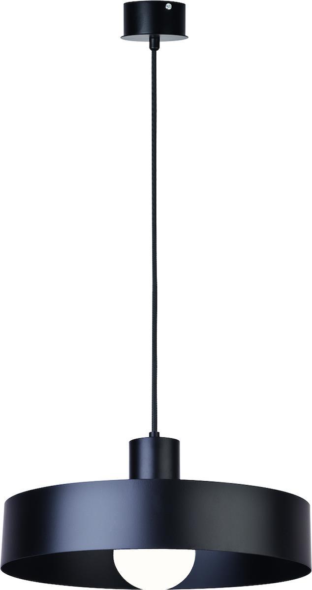 Φωτιστικό οροφής κρεμαστό μονόφωτο Norton μεταλλικό μαύρο 35x100cm Viokef 4184801
