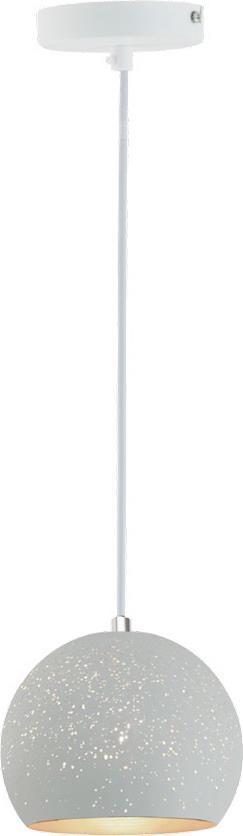 Φωτιστικό οροφής κρεμαστό μονόφωτο Galaxy μεταλλικό λευκό 15x110cm Viokef 4166801