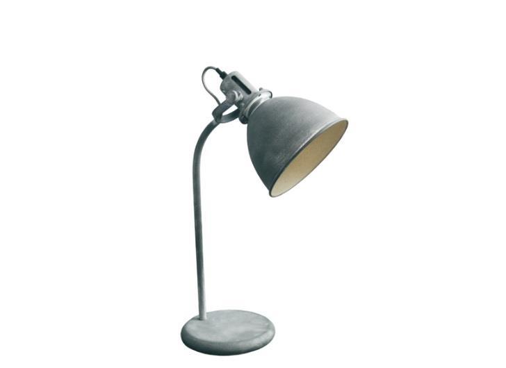 Φωτιστικό επιτραπέζιο μονόφωτο Alfred μεταλλικό σε vintage decor γκρι 25x52cm Viokef 4150200