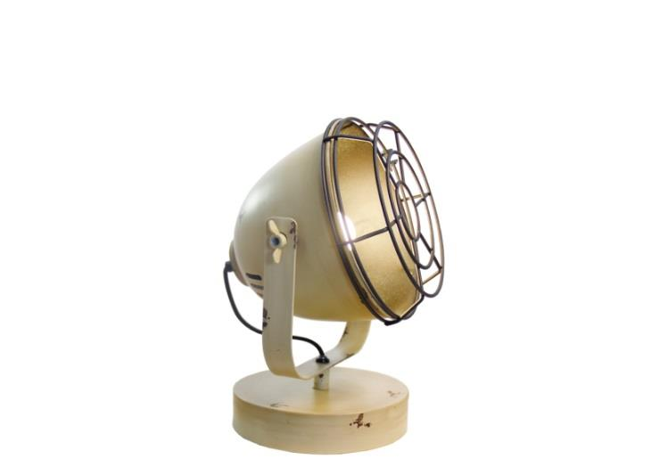 Φωτιστικό επιτραπέζιο μονόφωτο Levi μεταλλικό σε vintage decor μπεζ 20x32cm Viokef 4150600