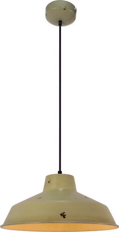 Φωτιστικό οροφής κρεμαστό μονόφωτο Potter μεταλλικό σε vintage decor μπεζ 35x110cm Viokef 4168901